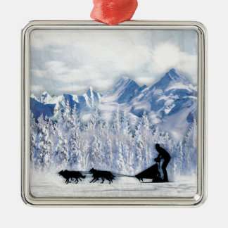 Dogsledding Christmas Ornament