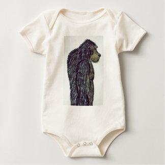 dogsquatch man baby bodysuit
