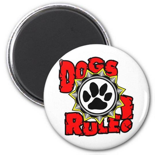 DogsRule_Logo_Color 6 Cm Round Magnet