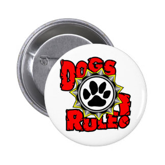 DogsRule_Logo_Color 6 Cm Round Badge