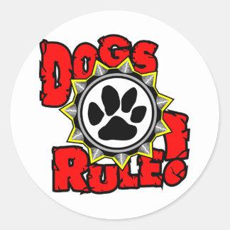 DogsRule_Logo_Color Round Sticker