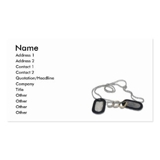DogTagWeddingRings053110shadows, Name, Address ... Business Card Template