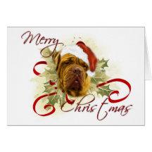 Dogue de Bordeaux Christmas Cards