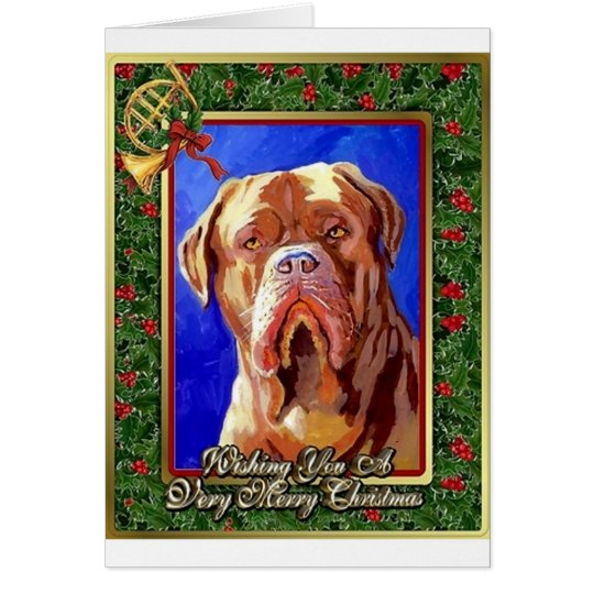 Dogue De Bordeaux Dog Blank Christmas Card