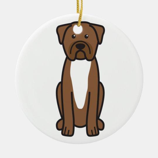 Dogue de Bordeaux Dog Cartoon Christmas Ornament