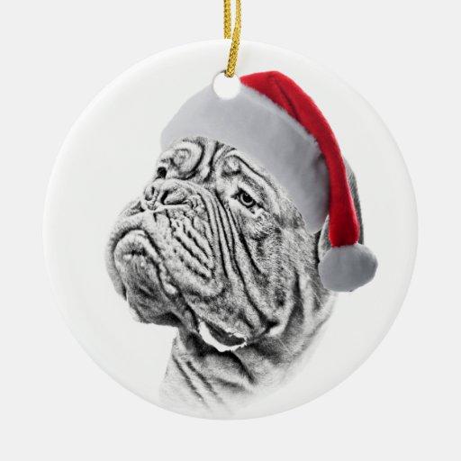 Dogue De Bordeaux - French Mastiff Christmas Tree Ornament