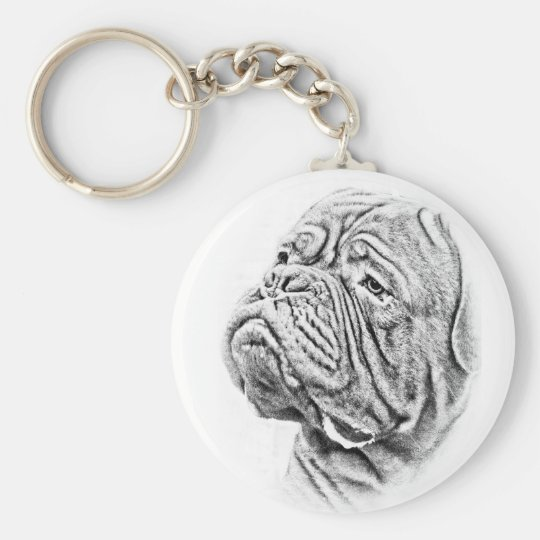 Dogue De Bordeaux - French Mastiff Key Ring