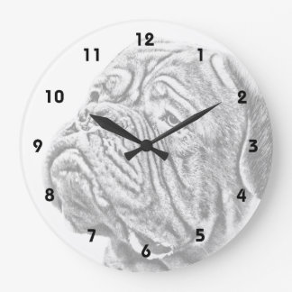 Dogue De Bordeaux - French Mastiff Large Clock