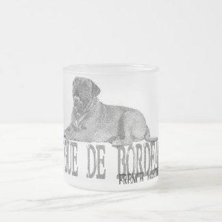 Dogue de Bordeaux Frosted Glass Coffee Mug