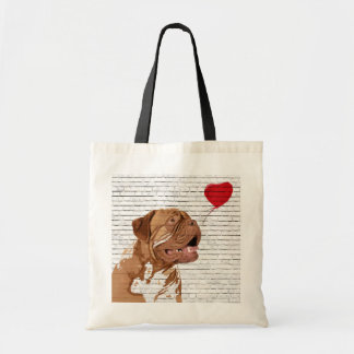 Dogue De Bordeaux Love Balloon Tote Bag