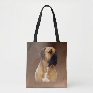 Dogue De Bordeaux Mastiff Dog Portrait Painting Tote Bag