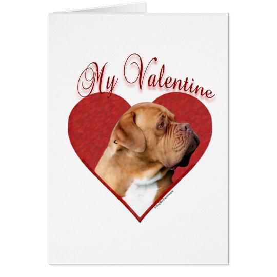 Dogue de Bordeaux My Valentine Card