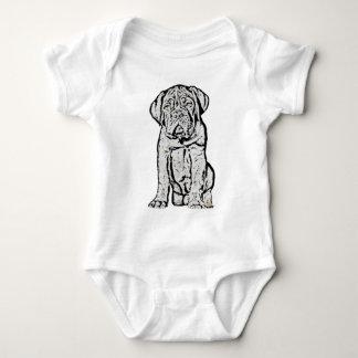 Dogue de Bordeaux puppy baby Baby Bodysuit