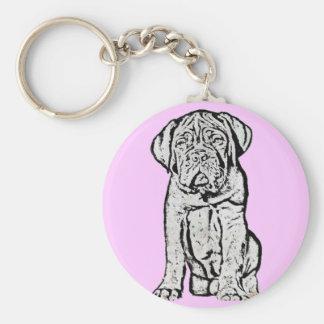 Dogue de Bordeaux puppy kechain Key Ring