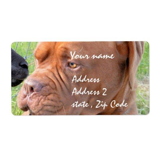 Dogue de Bordeaux Shipping Label
