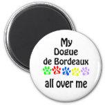 Dogue de Bordeaux Walks 6 Cm Round Magnet