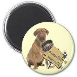 Dogue De Bordeaux Watches Over Me Gifts Fridge Magnet
