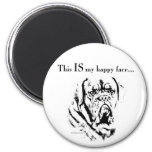 Dogue Happy Face 6 Cm Round Magnet