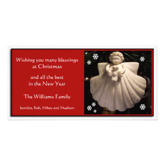 Dogwood Angel Blessings Christmas Card Customized Photo Card