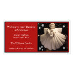 Dogwood Angel Blessings Christmas Card Customized Photo Card