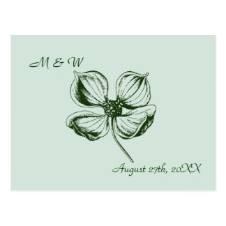 Dogwood Blossom Wedding Save the Date Postcard
