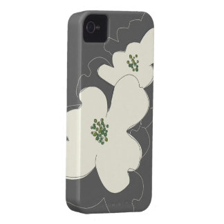 DOGWOOD BLOSSOMS IVORY/GRAY iPhone Case