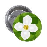 Dogwood Flower on green background Badges