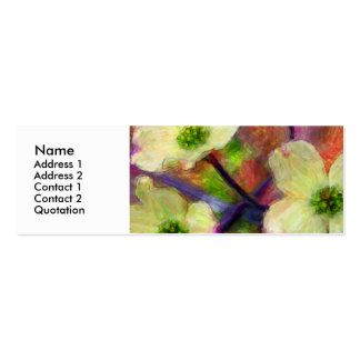 Dogwood Flower Profile Card Pack Of Skinny Business Cards