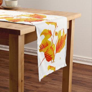 Dogwood Leaves on a Table Runner