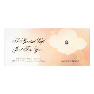 Dogwood Pale Blend Gift Certificate Custom Rack Card