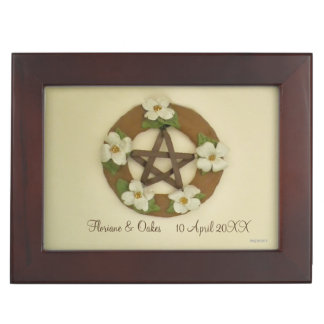 Dogwood Pentacle Handfasting Cord Keepsake Box