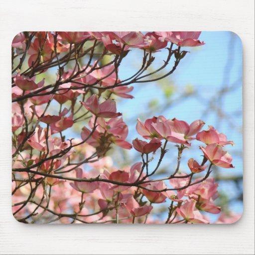 DOGWOOD PINK FLOWERS MOUSE PADS MOUSEPAD