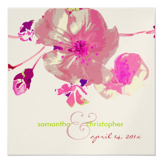 Dogwood/pink/mauve/wedding Invitations