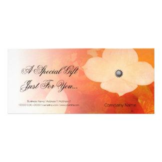 Dogwood  Watercolor Elegant Gift Certificate Custom Rack Cards