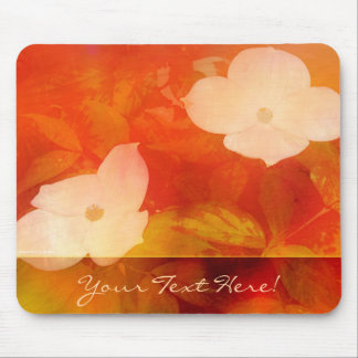 Dogwood Watercolor Mouse Pad