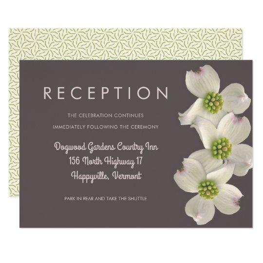 Dogwood Wedding Reception Enclosure Card