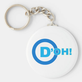 D'OH! BASIC ROUND BUTTON KEY RING