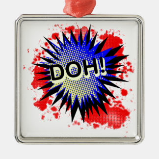 Doh Comic Exclamation Christmas Ornament