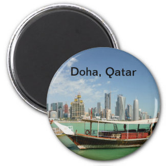 Doha 2011 dhow and skyline refrigerator magnets