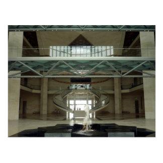 doha art museum lobby post card