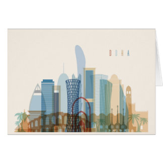 Doha, Qatar | City Skyline Card