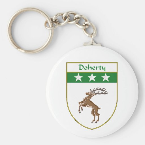 Doherty Coat of Arms/Family Crest Keychain