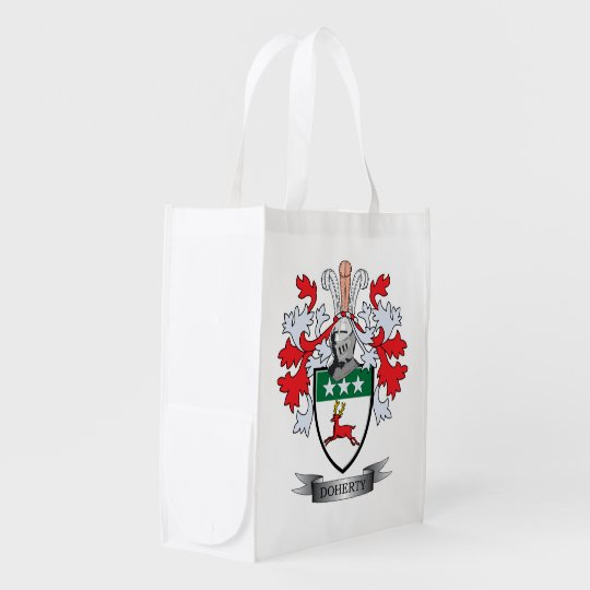 Doherty Coat of Arms Reusable Grocery Bag