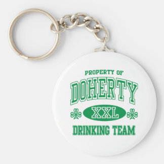 Doherty Irish Drinking Team Basic Round Button Key Ring