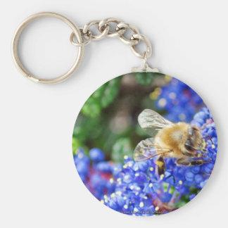 Dohr Street Bee Basic Round Button Key Ring