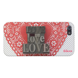 doily heart with love words iphone 5 savvy case iPhone 5 case