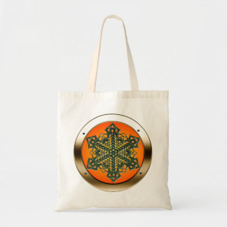 Doily in a Porthole Shopping Bag - Sunburst Satin