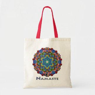 Doily Namaste Kaleidoscope Tote Bag