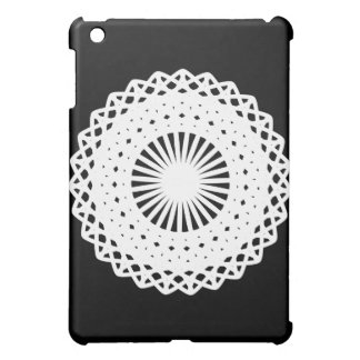Doily White lace circle image Case For The iPad Mini