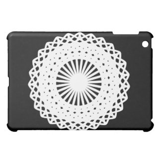 Doily. White lace circle image. Cover For The iPad Mini